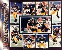 Neil O'Donnell,Yancy Thigpen, R. Woodson, Kevin Greene, Kordell Stewart, Ernie Mills, Steelers 1995 AFC Champs SUPER SALE Pittsburgh Steelers Slight Corner Creases 8x10 Photo