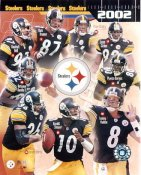 Steelers 2002 Tommy Maddox,Jason Gildon,Plaxico Burress,Hines Ward,Mark Bruener,Kendrell Bell LIMITED STOCK Pittsburgh 8x10 Photo