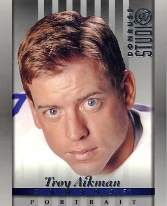 Troy Aikman LIMITED STOCK DonRuss Studio Dallas Cowboys 8X10 Photo