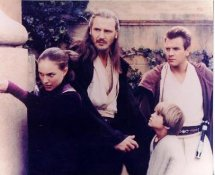 Liam Neeson,Natalie Portman,Ewan McGregor,Jake Lloyd Star Wars The Phantom Menance LIMITED STOCK 8X10 Photo