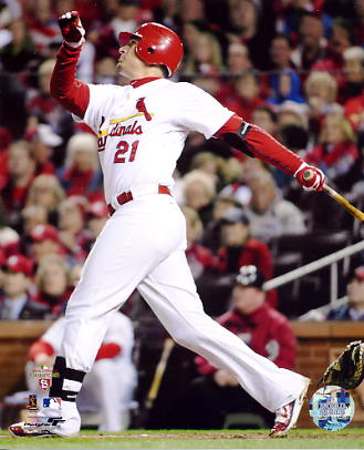 Allen Craig 2011 World Series Game 7 H.R. St. Louis Cardinals SATIN 8X10 Photos