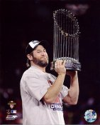 Lance Berkman W/ 2011 World Series Trophy St. Louis Cardinals 8X10 Photos