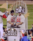 Lance Berkman & Albert Pujols W/ 2011 World Series Trophy St. Louis Cardinals 8X10 Photos