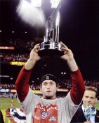 David Freese W/ 2011 World Series MVP Trophy LIMITED STOCK St. Louis Cardinals 8X10 Photos