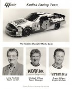 Larry Hedrick, Waddell Wilson & Gregg Wilson Chevrolet Kodiak Racing Team LIMITED STOCK 8x10 Photo