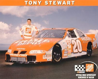 Tony Stewart Home Depot LIMITED STOCK 8x10 Photo