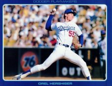 Orel Hershiser Stats On Back Unocal Poster Stock Includes Free Top Loader SUPER SALE LA Dodgers 8 1/2X11 Photo