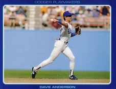 Dave Anderson Stats On Back Unocal Poster Stock Includes Free Top Loader SUPER SALE LA Dodgers 8 1/2X11 Photo