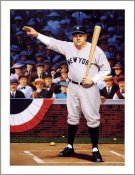 "Babe Ruth ""The Babe Calls His Shot"" Called Shot Litho SUPER SALE 8 1/2X11 Photo"