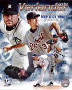 Justin Verlander 2011 MVP & CY Young Award Winner Detriot Tigers 8X10 Photo