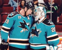 Evgeni Nabokov & Joe Thornton LIMITED STOCK Sharks 8x10 Photo