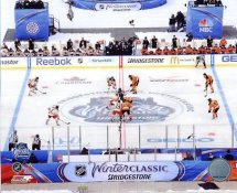 Flyers 2012 Winter Classic vs New York Rangers Faceoff 8x10 Photo