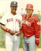 Jim Rice & Pete Rose LIMITED STOCK Boston Red Sox 8x10 Photo