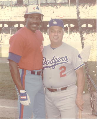 Andre Dawson & Tommy Lasorda LIMITED STOCK Montreal Expos 8X10 Photo