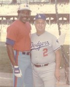 Andre Dawson & Tommy Lasorda LIMITED STOCK Montreal Expos 8X10 Photo FADED