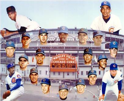 Ernie Banks & 1969 Legends of the Chicago Cubs LIMITED STOCK 8X10 Photo