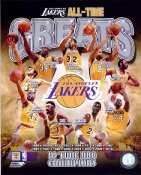 Elgin Baylor, Derek Fisher, Magic Johnson, Shaq O'Neal, Kobe Bryant, Jerry West, Wilt Chamberlain, James Worthy All Time Greats Los Angeles Lakers SATIN 8x10 Photos LIMITED STOCK
