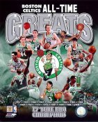 Kevin McHale, Bill Russell, Larry Bird, Bob Cousy, Danny Ainge, John Havlicek, Robert Parish Boston Celtics SATIN 8X10 Photo LIMITED STOCK