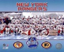Rangers 2012 Winter Classic Sit Down New York 8x10 Photo