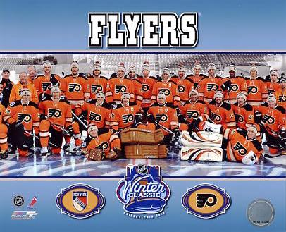 Flyers 2012 Winter Classic Sit Down Philadelphia 8x10 Photo