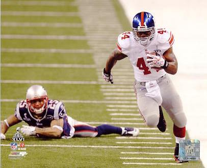Ahmad Bradshaw Super Bowl 46 New York Giants 8X10 Photo