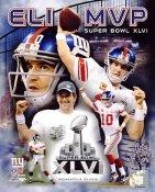 Eli Manning Super Bowl 46 MVP New York Giants 8X10 Photo