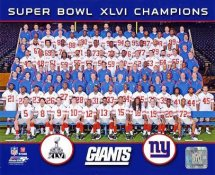 Giants 2012 Super Bowl Champions Sit Down New York 8x10 Photo