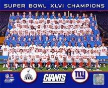 Giants 2012 Super Bowl Champions Sit Down New York 8x10 Photo