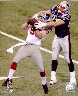 Chase Blackburn Super Bowl 46 Interception New York Giants 8X10 Photo