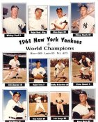 Whitey Ford, Mickey Mantle, Yogi Berra, Roger Maris, Bill Skowron 1961 World Champions LIMITED STOCK New York Yankees Coaches 8X10 Photo