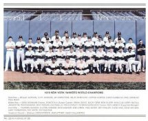 Yankees 1978 World Champions New York Team Photo Daily News with Headlines On Back / Glossy Paperstock Slight Creases 8X10 Photo