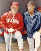 Pete Rose & Carl Yastrzemski LIMITED STOCK Cincinnati Reds 8X10 Photo