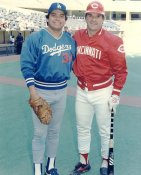 Pete Rose & Fernando Valenzuela LIMITED STOCK Cincinnati Reds 8X10 Photo