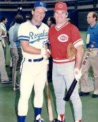 Pete Rose & George Brett LIMITED STOCK Cincinnati Reds 8X10 Photo