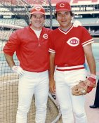 Pete Rose & Johnny Bench LIMITED STOCK Cincinnati Reds 8X10 Photo