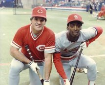 Pete Rose & Willie McGee LIMITED STOCK Cincinnati Reds 8X10 Photo