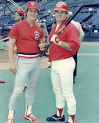 Tommy Herr & Pete Rose LIMITED STOCK Cincinnati Reds 8X10 Photo