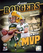 Aaron Rodgers 2011 MVP Green Bay Packers 8X10 Photo