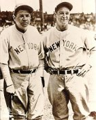 Babe Ruth & Lou Gehrig SUPER SALE New York Yankees 8X10 Photo