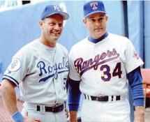 George Brett & Nolan Ryan Kansas City Royals / Texas Rangers 8X10 Photo