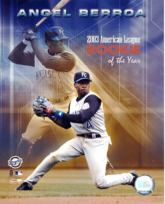 Angel Berroa LIMITED STOCK 2003 Rookie Of The Year Kansas City Royals 8x10 Photo
