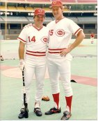 Jim Kaat & Pete Rose LIMITED STOCK Cincinnati Reds 8X10 Photo