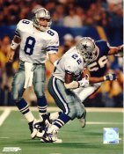 Troy Aikman & Emmitt Smith w/ Hologram LIMITED STOCK Dallas Cowboys 8X10 Photo