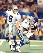 Troy Aikman & Emmitt Smith No Hologram LIMITED STOCK Dallas Cowboys 8X10 Photo