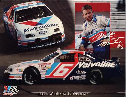 Mark Martin SUPER SALE Slight Corner Crease 8 1/2 x 11 Photo
