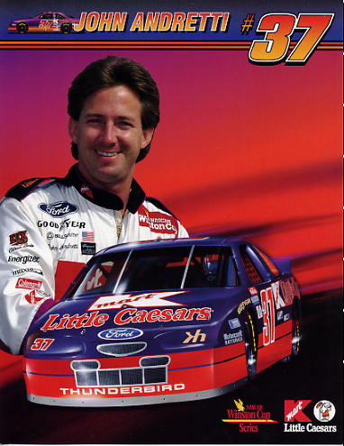 John Andretti LIMITED STOCK 8 1/2 x 11 Photo