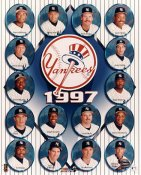 Bernie Williams, Derek Jeter, Dave Cone, Andy Pettitte, Joe Girardi, David Wells LIMITED STOCK 1997 New York Yankees 8X10