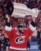 Bret Hedican with Stanley Cup 2006 LIMITED STOCK Hurricanes 8x10 Photo