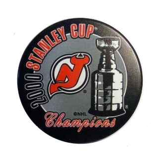 Devils 2000 New Jersey Puck Stanley Cup Hockey Puck
