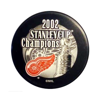Detroit 2002 Red Wings Puck Stanley Cup Hockey Puck